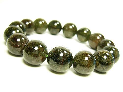 アクチノライト緑光石/天然石パワーストーン14mm/1点もの:Felice 幸福屋