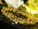 パワーストーン/風水=金運=黄水晶 シトリン 天然石さざれブレスレット/1...