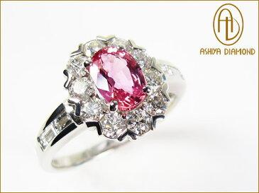 「39ショップ」パパラチアサファイアリング/0.930ct ダイヤモンド0.82ctプラチナ900指輪/芦屋ダイヤモンド/極KIWAMI