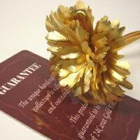 純金の薔薇(バラ)の花=純金証明書付き