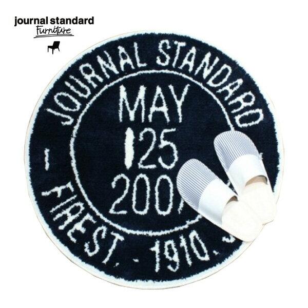 journal standard Furniture(ジャーナルスタンダードファニチャー)JSF STAMP RUG・NAVY(JSFスタンプラグ・ネイビー)