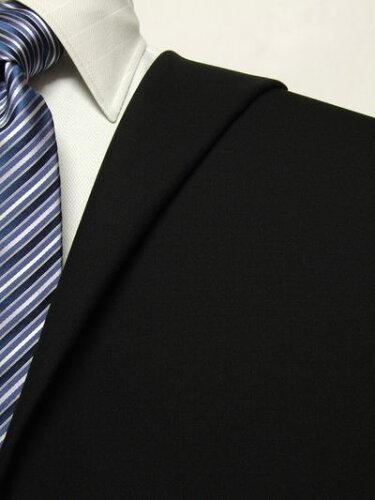 ファーストコレクション ブラック系 無地 オーダースーツ 秋冬用素材 ウール100% ポリ0% 00450-1...