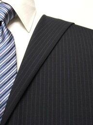 ファーストコレクション ネイビー系 ストライプ オーダースーツ 春夏用素材 ウール70% ポリ30% 95407-33【RCP】