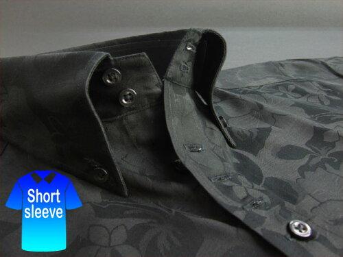 かりゆしウェア結婚式に アロハシャツ 沖縄 メンズ ボタンダウン 半袖 クールビズ Yシャツ ワイシ...