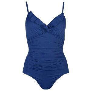 Ralph Lauren Bodywear Women's One-piece Swimwear/Beachwear [Ruffle Swimsuit] Sapphire Blue (