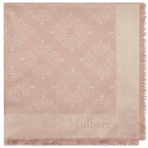 桑berry女士围巾围巾围巾[树方形围巾]粉红色