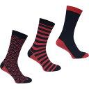ライジング ブル Raging Bull メンズ ソックス インナー・下着【cotton rich socks triple pack】Vivid Pink