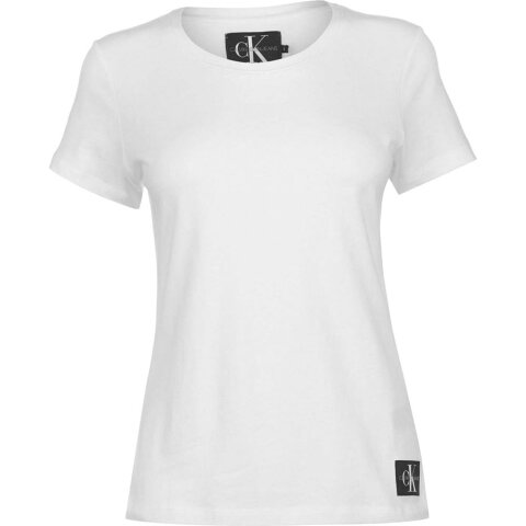 カルバンクライン Calvin Klein Jeans レディース Tシャツ トップス【Core Slim T Shirt】Bright White