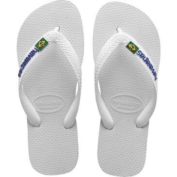 ハワイアナス Havaianas メンズ ビーチサンダル シューズ・靴【Brazil Logo Flip Flops】White