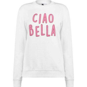 ブレイクセブン Blake Seven レディース スウェット・トレーナー トップス【Ciao Bella Sweatshirt】White