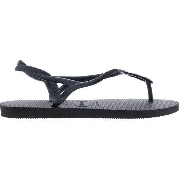 ハワイアナス Havaianas レディース ビーチサンダル シューズ・靴【Luna Flip Flops】Black