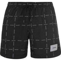 カルバンクライン Calvin Klein メンズ 海パン 水着・ビーチウェア【Stripe Swim Shorts】Black