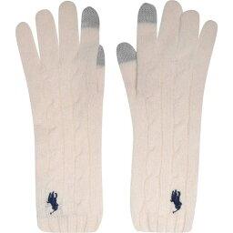 ラルフ ローレン Polo Ralph Lauren レディース 手袋・グローブ 【Polo Cable Glove】Cream