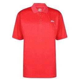 スラセンジャー Slazenger メンズ ポロシャツ トップス【Golf Solid Polo Shirt】Flame Scarlet