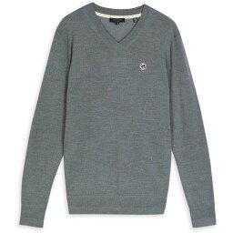 テッドベーカー Ted Baker メンズ ニット・セーター Vネック トップス【Kenton V Neck Sweater】CHARCOAL