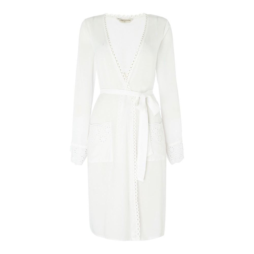 サイバーキュティーズ レディース インナー バスローブ【Cyberjammies Aoe lightweight robe】White