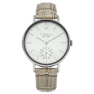 フィオレッリ レディース 腕時計【 Taupe Croc Leather Strap Watch】taupe
