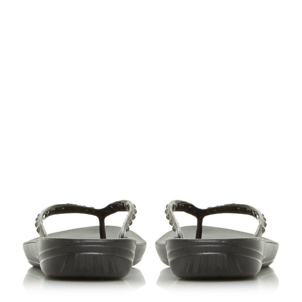 フィットフロップ レディース シューズ・靴 ビーチサンダル【Lqushion Wedge Flip Flops】black