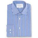 ダブルTWO メンズ トップス シャツ【Paradigm King Size Single Cuff 100% Cotton Shirt】blue