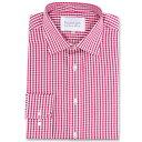 ダブルTWO メンズ トップス シャツ【Paradigm King Size Single Cuff 100% Cotton Shirt】red