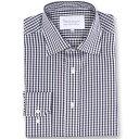 ダブルTWO メンズ トップス シャツ【Paradigm King Size Single Cuff 100% Cotton Shirt】charcoal
