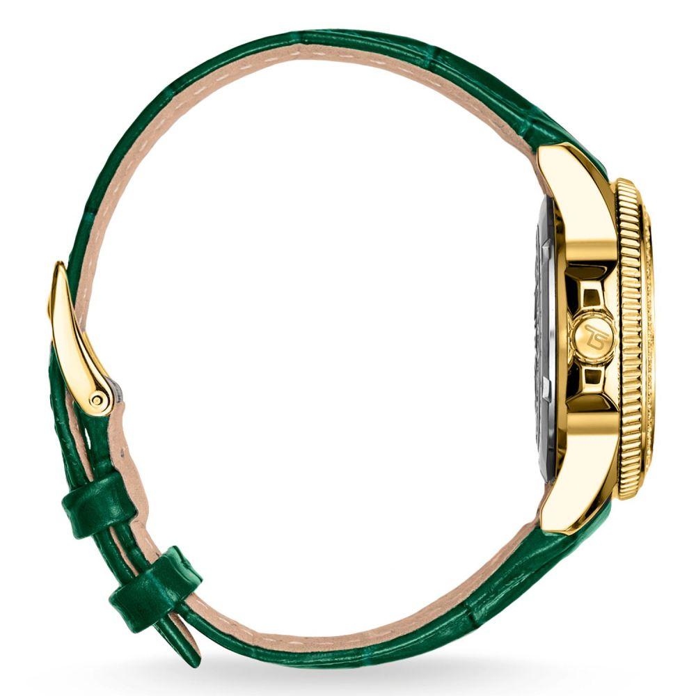 トーマスサボ レディース 腕時計【Glam Chic Green Gold Watch】multi-coloured