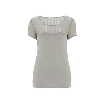 ヌガー ロンドン レディース トップス Tシャツ【Daisy Lace T-shirt】grey