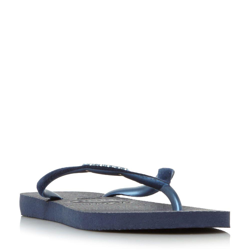 ハワイアナス レディース シューズ・靴 ビーチサンダル【4140265 Slim Velvet Flip Flops】navy