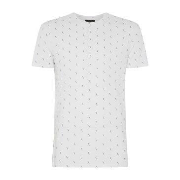 レーベルラボ メンズ トップス Tシャツ【Mini Lightning Bolt Geo Tee】white