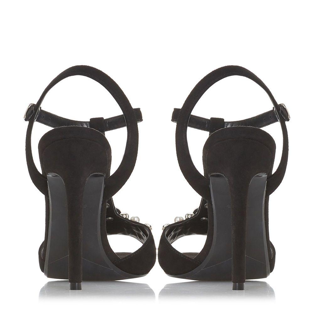 デューン Dune レディース シューズ・靴 サンダル・ミュール【Mazzure Jewel Embellished Block Heel Sandals】black