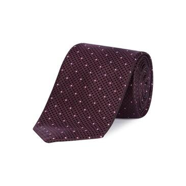 ヒューゴ ボス Hugo Boss メンズ ネクタイ【Micro Dot Jacquard Tie】burgundy