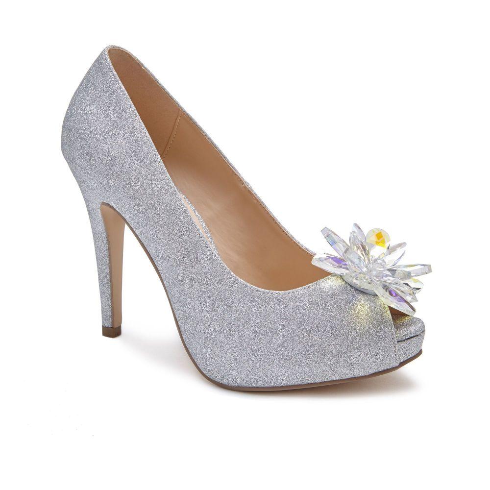 パラドックスロンドンピンク Paradox London Pink レディース シューズ・靴 サンダル・ミュール【Savannah Jewelled Platform Shoes】silver