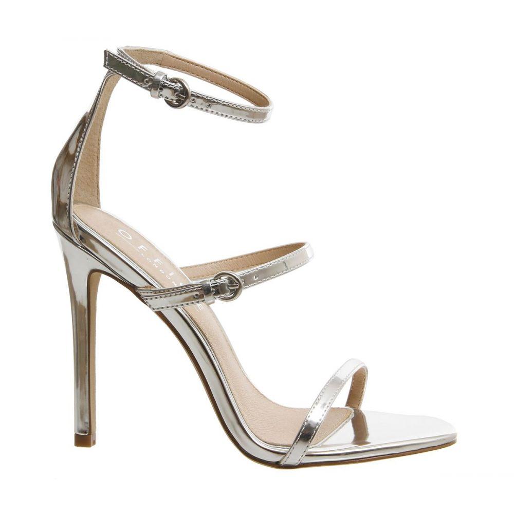 オフィス Office レディース シューズ・靴 サンダル・ミュール【Hush 3 Strap Sandals】silver