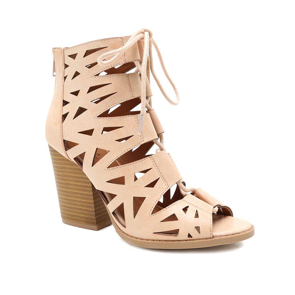 キューピッド Qupid レディース シューズ・靴 サンダル・ミュール【Barnes Lace Up Sandal】beige