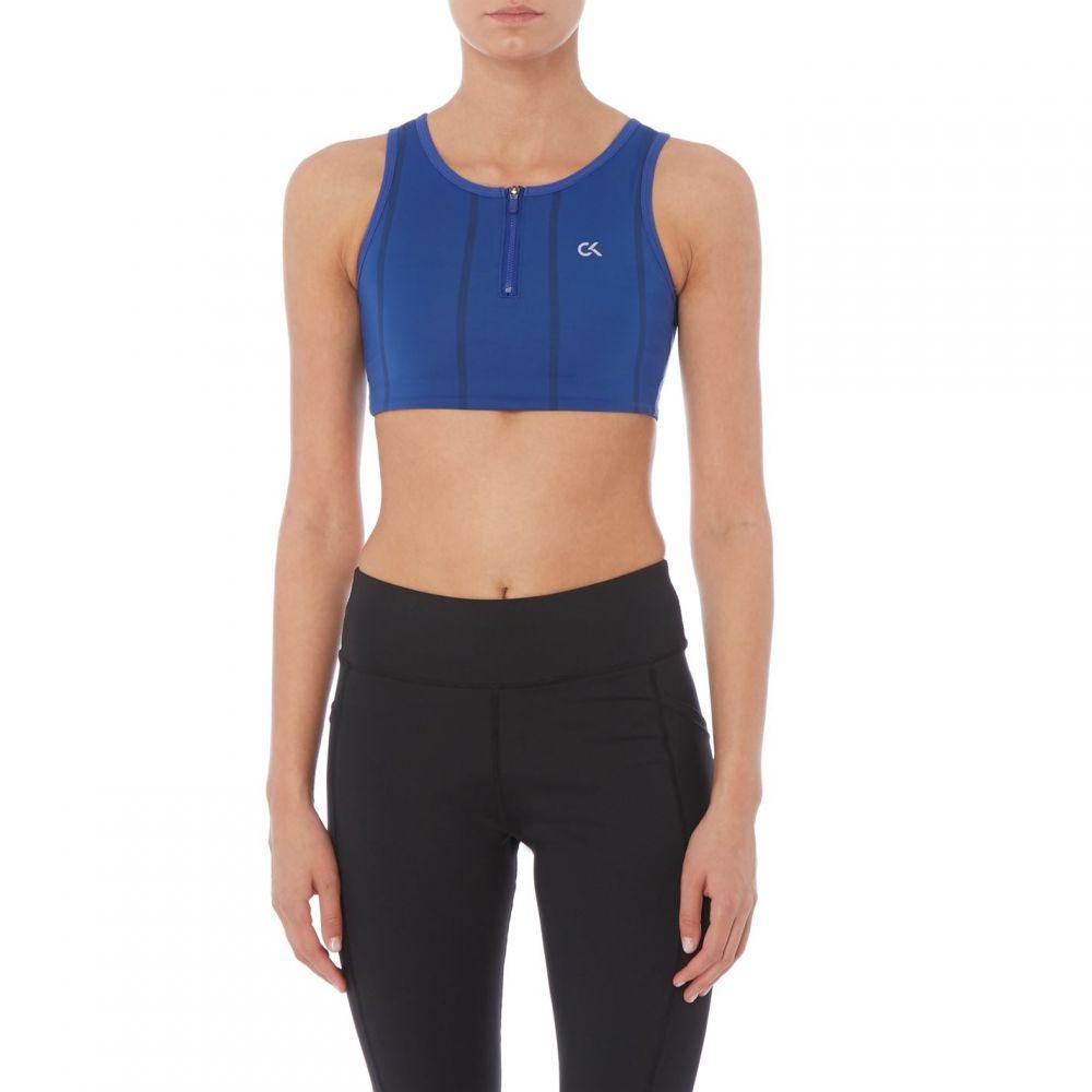 カルバンクライン Calvin Klein Performance レディース インナー・下着 ブラジャーのみ【Ck Perf half Zip Bra】MAZARINE BLUE