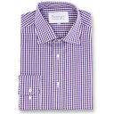 ダブルTWO Double TWO メンズ トップス【Paradigm King Size Single Cuff 100 Percent Cotton Shirt】Purple