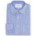 ダブルTWO Double TWO メンズ トップス【Paradigm King Size Single Cuff 100 Percent Cotton Shirt】Blue