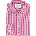 ダブルTWO Double TWO メンズ トップス【Paradigm King Size Single Cuff 100 Percent Cotton Shirt】Red
