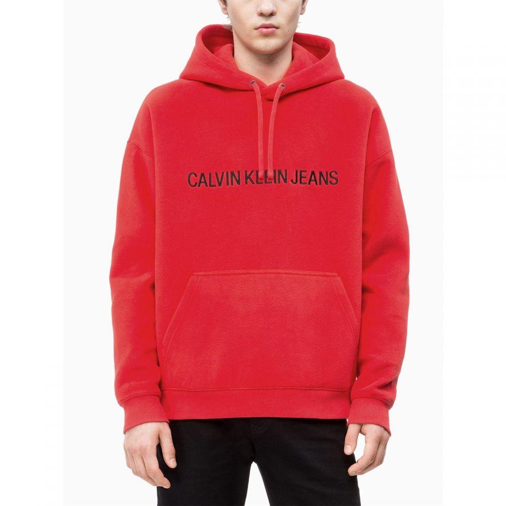 カルバンクライン Calvin Klein Jeans メンズ トップス パーカー【Logo Hoodie】Red