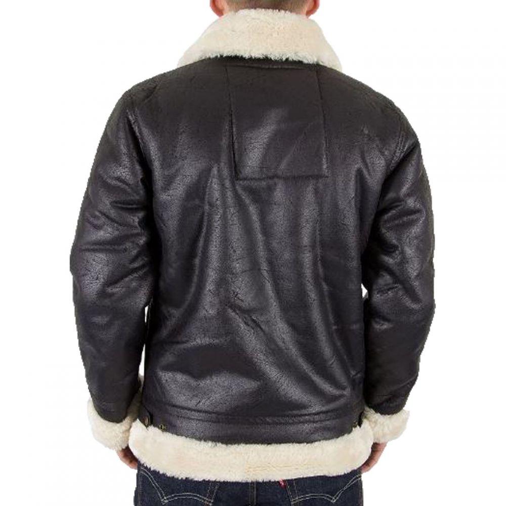 アルファ インダストリーズ Alpha Industries メンズ アウター レザージャケット【B3 Faux Leather Jacket】Black