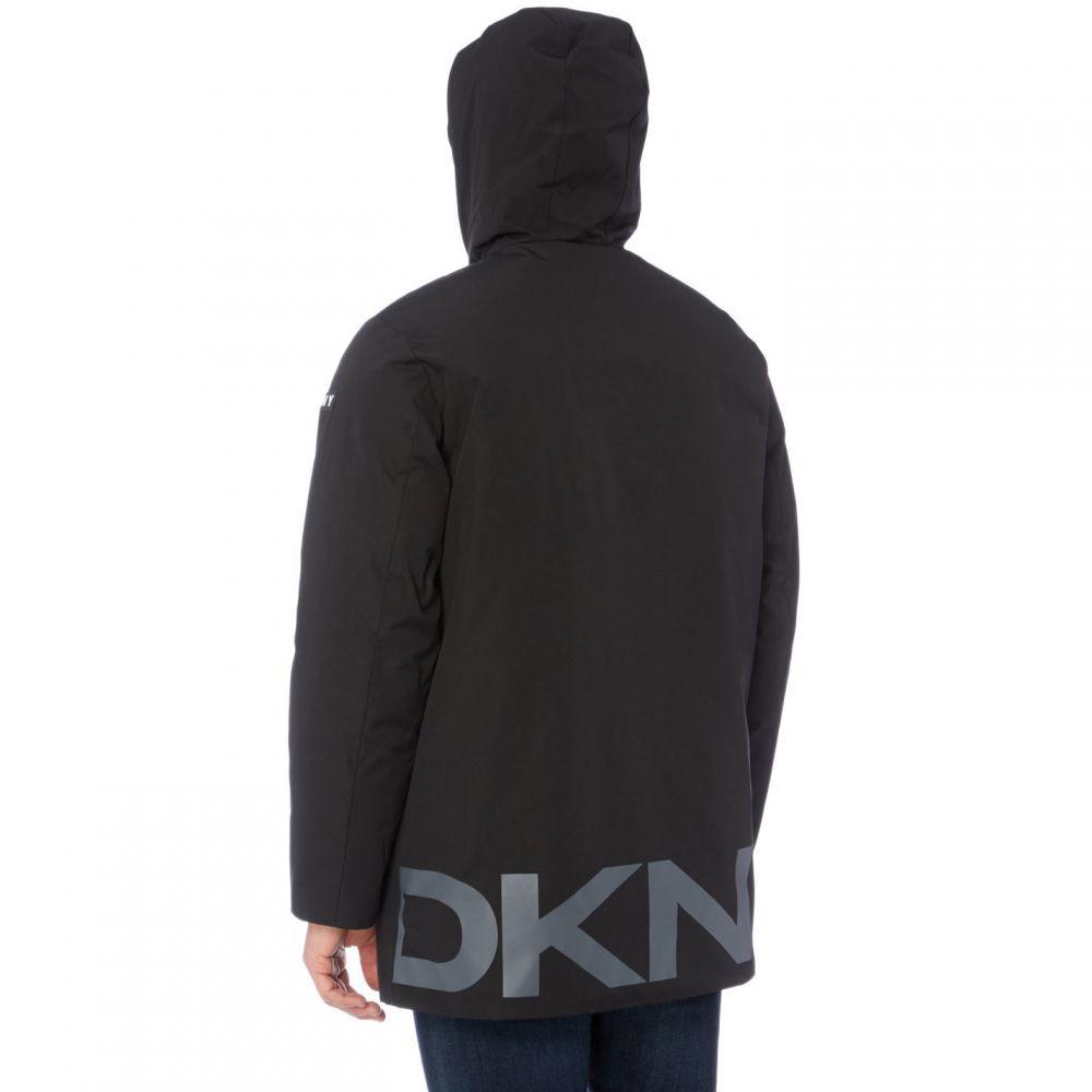ダナ キャラン ニューヨーク DKNY メンズ アウター コート【Logo Hood Parka 84】Black