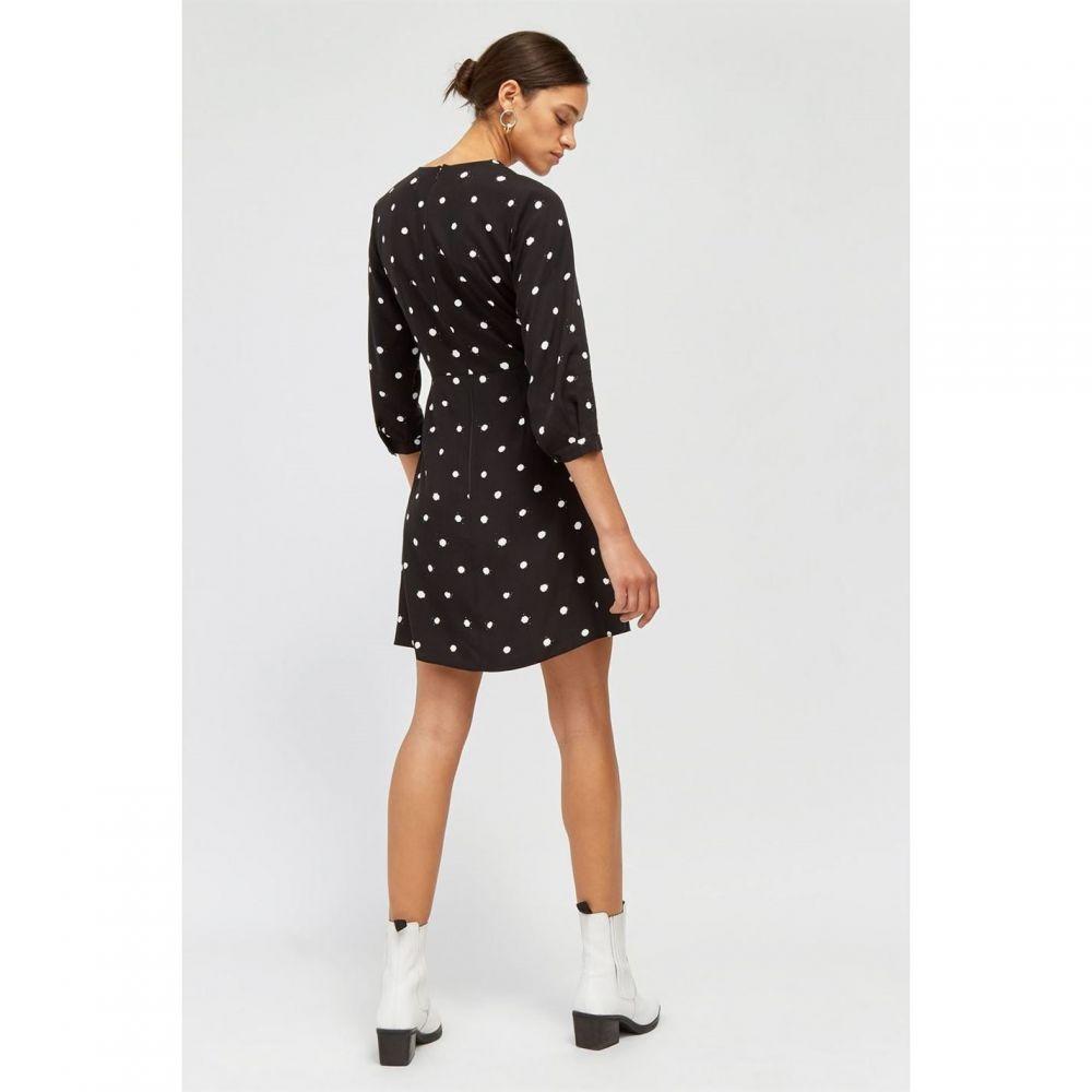 ウェアハウス Warehouse レディース ワンピース・ドレス ワンピース【Spot Mini Wrap Dress】Black