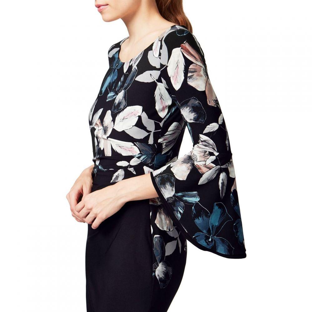 ジュームズ レイクランド James Lakeland レディース ワンピース・ドレス ワンピース【Print Dress With Side Pleat】Black