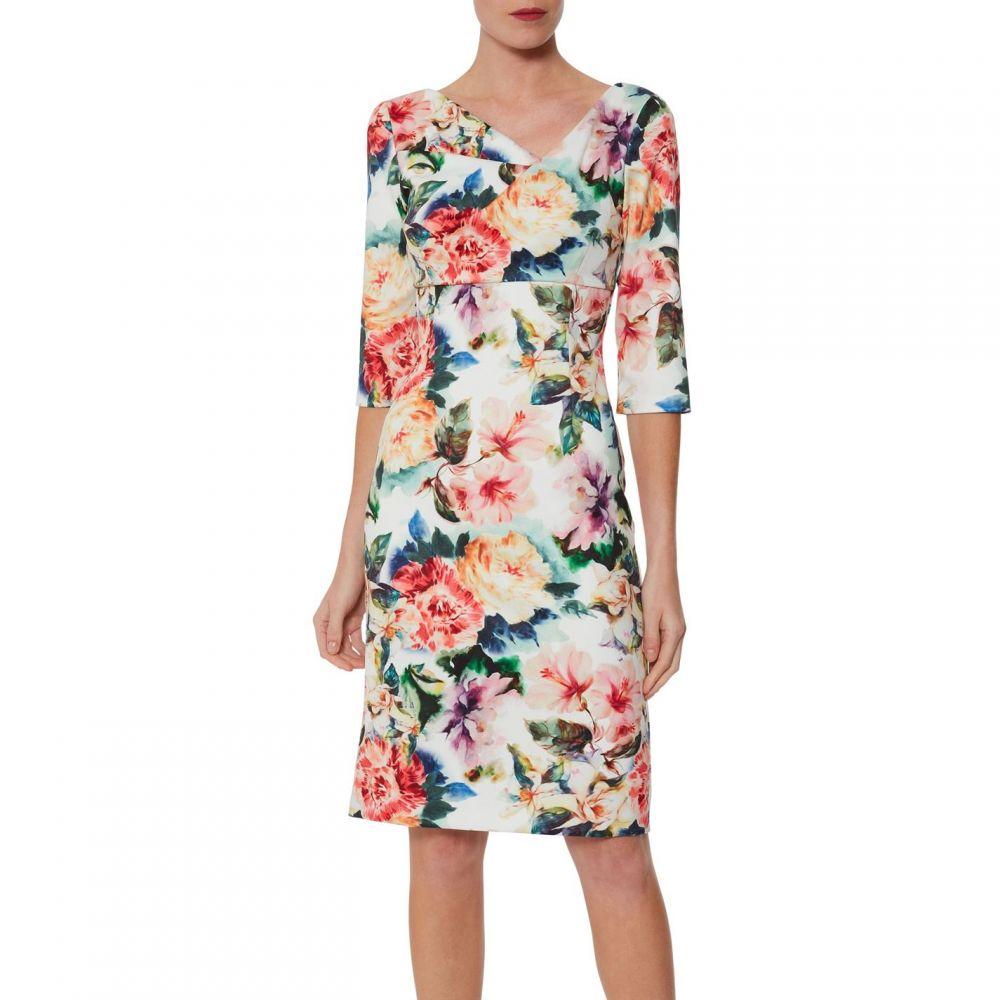ジーナ バッコーニ Gina Bacconi レディース ワンピース・ドレス ワンピース【Isolena Floral Scuba Dress】Poppy