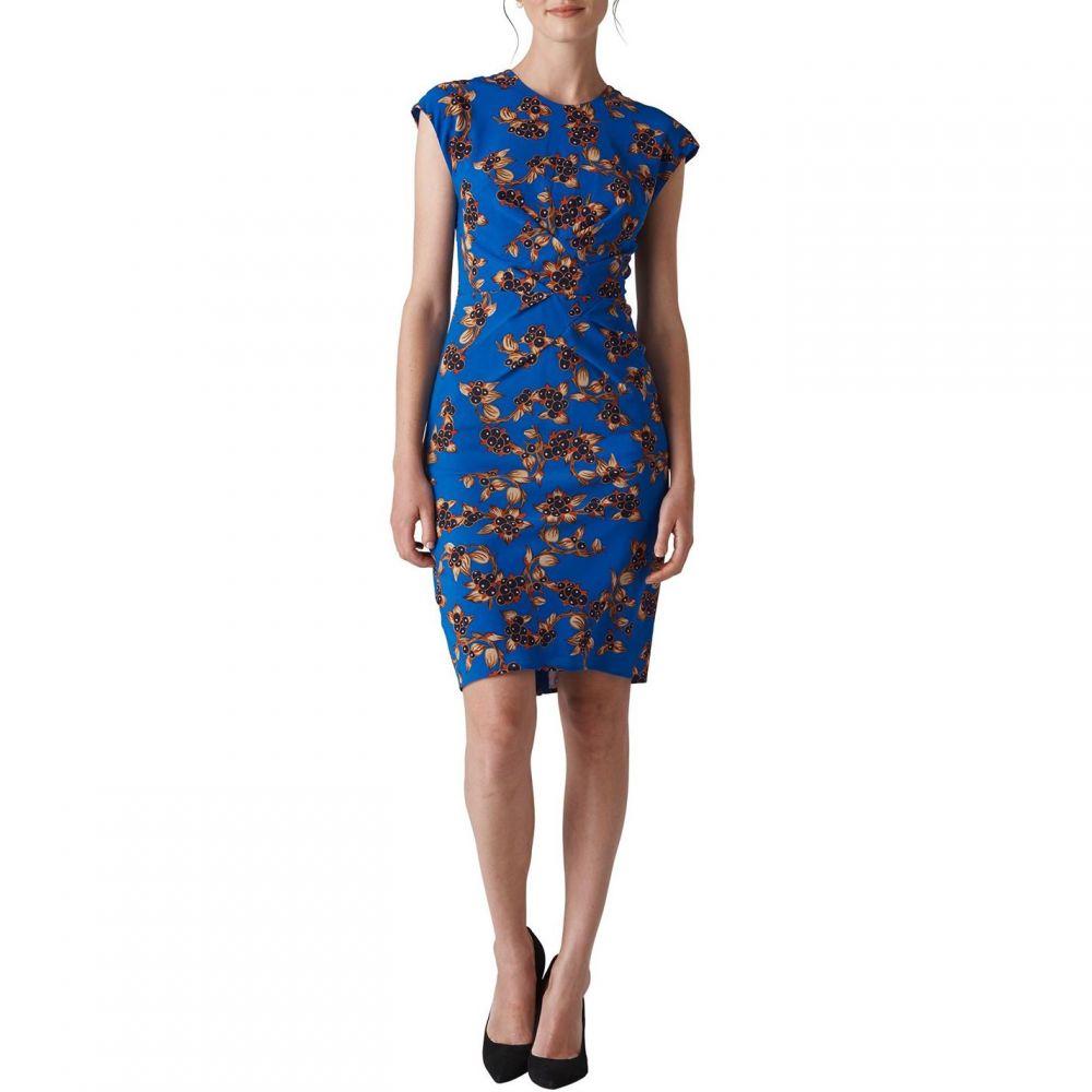 ホイッスルズ Whistles レディース ワンピース・ドレス ボディコンドレス【Capri Print Silk Bodycon】Blue Multi
