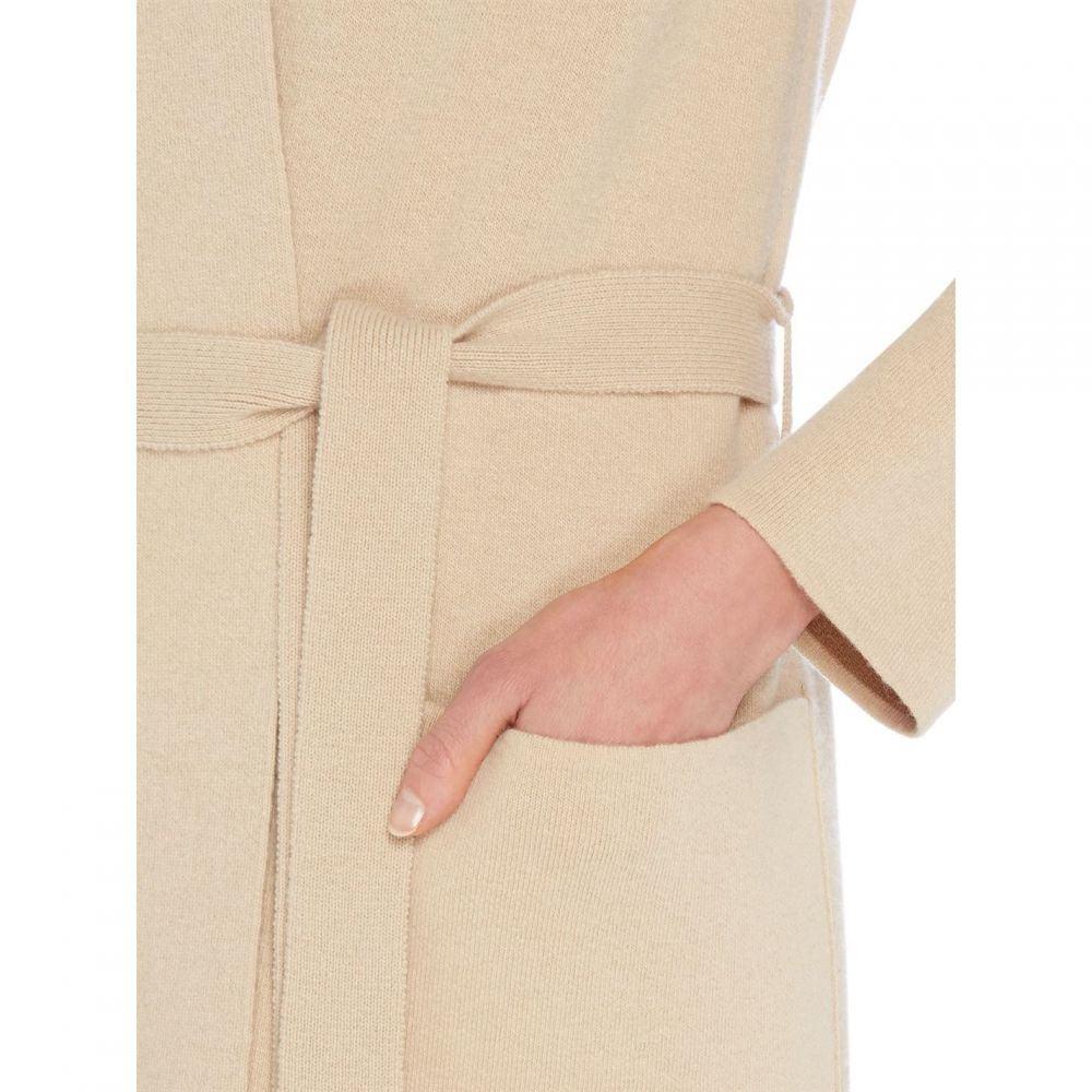 マックスマーラ Max Mara Studio レディース トップス カーディガン【Cardigan waist tie coat】Beige