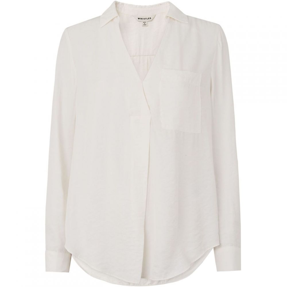 ホイッスルズ Whistles レディース トップス Tシャツ【Ella Pocket Shirt】Ivory