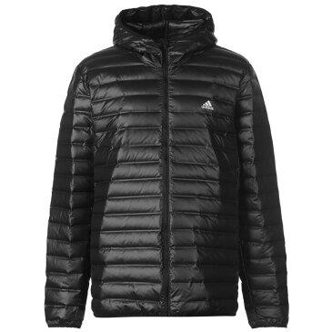 アディダス adidas メンズ ダウン・中綿ジャケット フード アウター【Varilite Down Hooded Jacket】Black