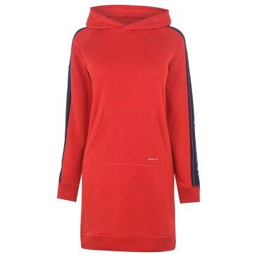ガント Gant レディース ワンピース パーカーワンピース ワンピース・ドレス【Archive Hoodie Dress】Bright Red