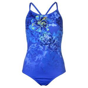 スラセンジャー Slazenger レディース ワンピース 水着・ビーチウェア【Rebecca Adlington Recordbreaker Swimsuit】Blue Flower